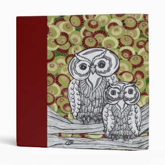 Owls 26 3 ring binder
