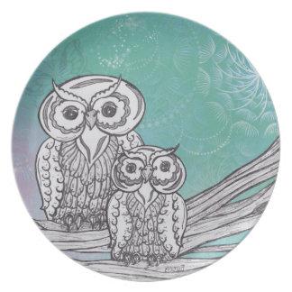Owls 33 Plate