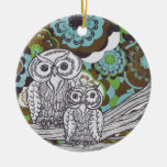 Owls 34 christmas ornaments