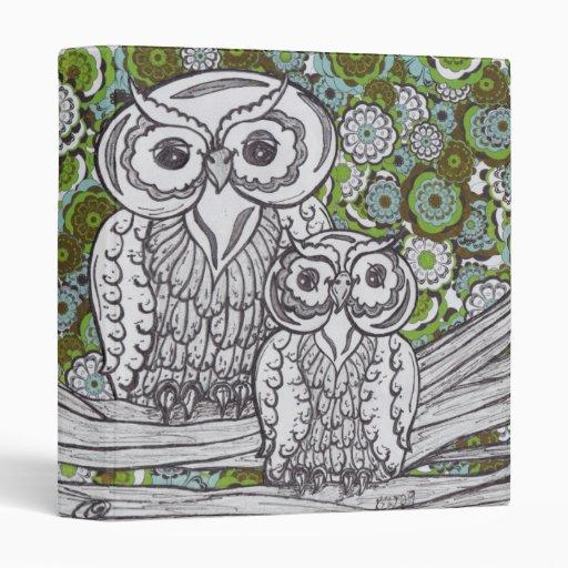 Owls 35 vinyl binders