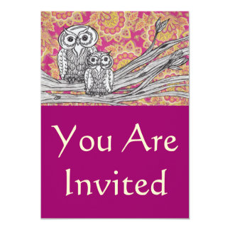 Owls 36 Invitations