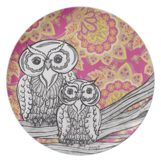 Owls 36 Plate