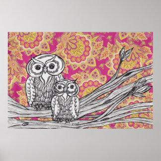 Owls 36 Poster Print