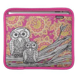 Owls 36 Rickshaw iPad Sleeve