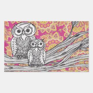Owls 36 Stickers