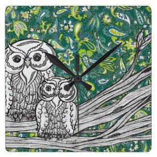Owls 37 Clock