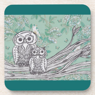 Owls 39 Cork Coaster Set
