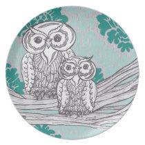 Owls 43 Plate