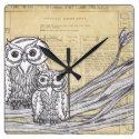 Owls 45 Clock