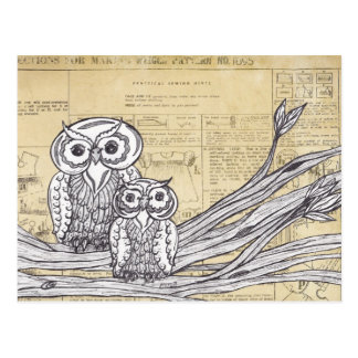 Owls 45 postcard
