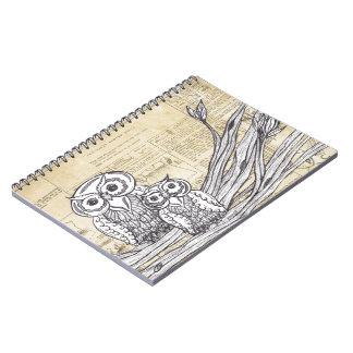 Owls 45 spiral notebook