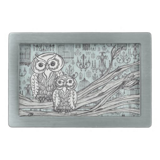 Owls 46 Belt Buckle