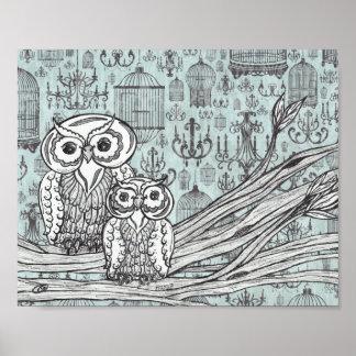 Owls 46 Print
