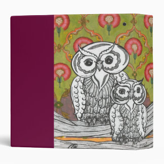 Owls 4 3 ring binder