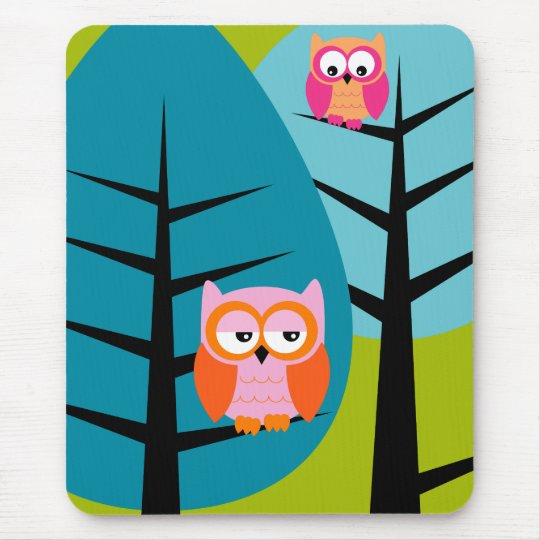 owls 4 Mousepad