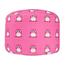 Owls All Over Pouf