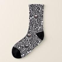 Owls and bones socks