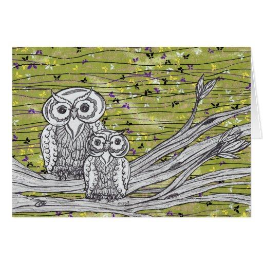 Owls and Butterflies 2 Card