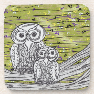 Owls and Butterflies 2 Coaster
