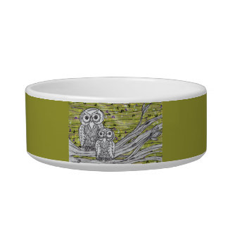 Owls and Butterflies 2 Pet Bowl