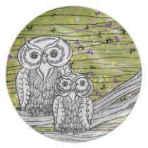 Owls and Butterflies 2 Plate