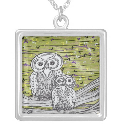 Owls and Butterflies Necklace