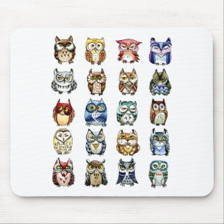 Owls and Cat Mouse Pads