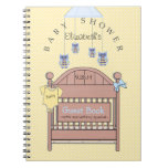 Owls and Crib-Baby Shower Guest Book- Note Books