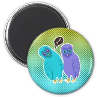 Owls and Dots 2 Inch Round Magnet