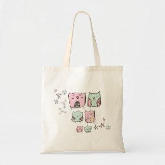 Owls and Flowers bag