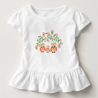 owls and flowers toddler t-shirt
