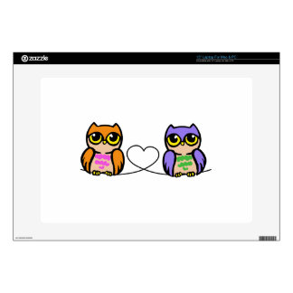"""Owls And Heart Decal For 15"""" Laptop"""