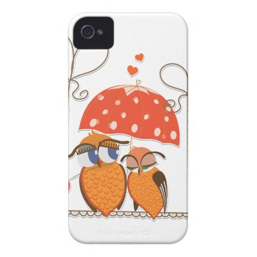 Owls and Hearts iPhone 4 Cover