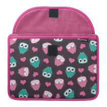 Owls and Hearts Sleeve For MacBook Pro