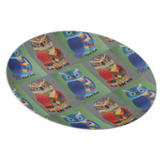 owls and more owls dinner plate