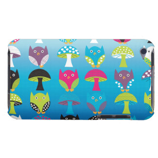 Owls and Mushrooms iPod Touch Cases