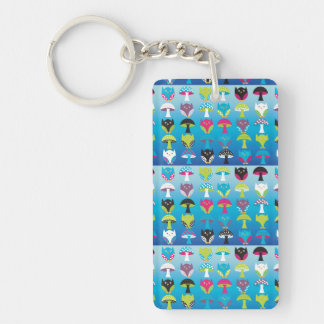 Owls and Mushrooms Keychain