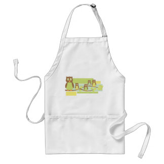 Owls and Owls Adult Apron