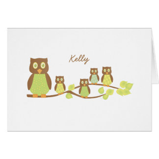 Owls and Owls Greeting Card