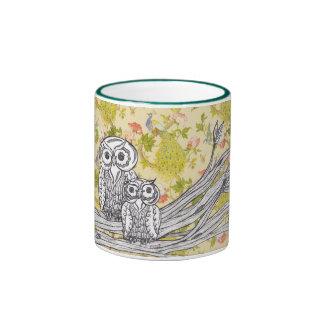 Owls and Peacocks Mug