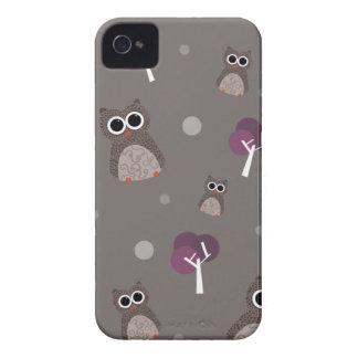 Owls and Purple Trees Blackberry Bold Case