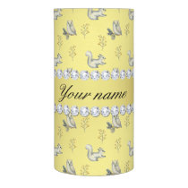 Owls and Squirrels Faux Gold Foil Bling Diamonds Flameless Candle