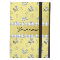 Owls and Squirrels Faux Gold Foil Bling Diamonds iPad Air Covers