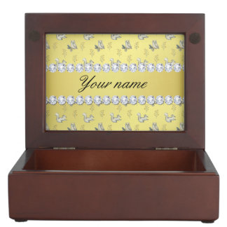 Owls and Squirrels Faux Gold Foil Bling Diamonds Memory Box