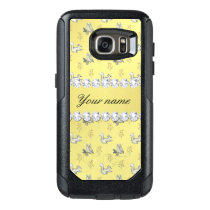 Owls and Squirrels Faux Gold Foil Bling Diamonds OtterBox Samsung Galaxy S7 Case