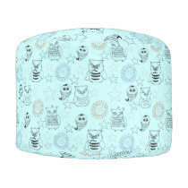 Owls and Stars Pouf