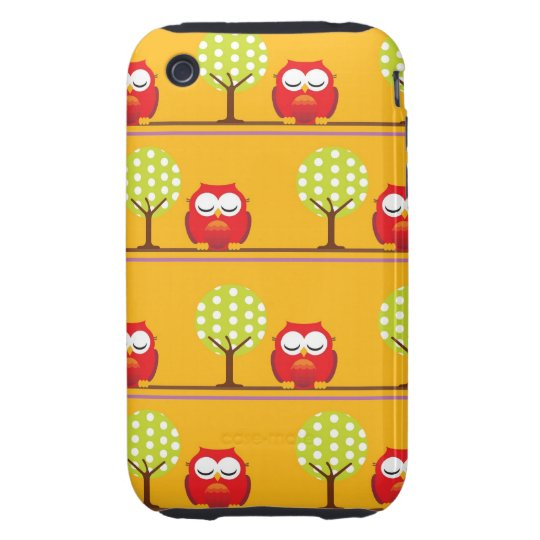 Owls and Trees iPhone 3 Tough Case
