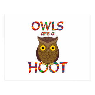 Owls are a Hoot Postcard