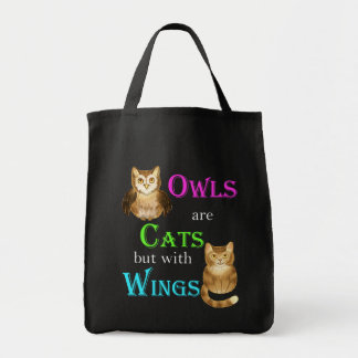 Owls are Cats but with wings Canvas Bags