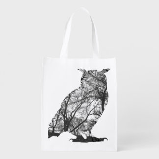 Owls are cats with wings grocery bag